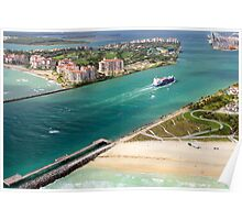 Entering Miami Harbour Poster