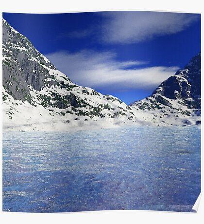 Frozen Waters Landscape Poster