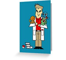 The Professor and His Starters Greeting Card
