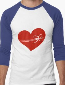 Valentine day doodle hearts  Men's Baseball ¾ T-Shirt