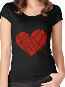 Valentine day doodle hearts  Women's Fitted Scoop T-Shirt