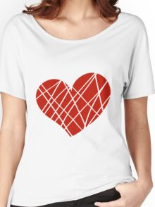 Valentine day doodle hearts  Women's Relaxed Fit T-Shirt