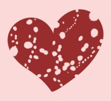 Valentine day doodle hearts  One Piece - Short Sleeve