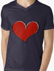 Valentine day doodle hearts  Mens V-Neck T-Shirt