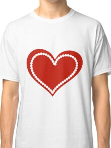 Valentine day doodle hearts  Classic T-Shirt