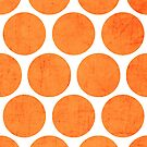 orange polka dots by beverlylefevre