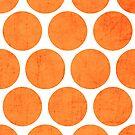 orange polka dots by beverlylefevre
