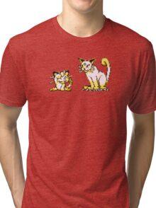 Meowth evolution  Tri-blend T-Shirt