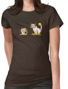 Meowth evolution  Womens Fitted T-Shirt