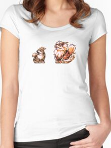 Growlithe evolution  Women's Fitted Scoop T-Shirt