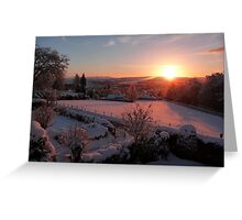 Shimmering Dawn Greeting Card