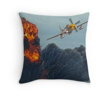 Mustang Attack ! Throw Pillow