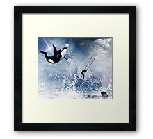 ...And the Whale Jumped Over the Moon... Framed Print