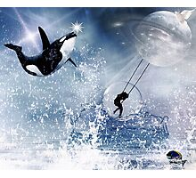 ...And the Whale Jumped Over the Moon... Photographic Print