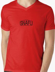 SNAFU Logo Mens V-Neck T-Shirt