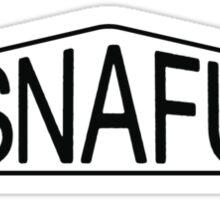 SNAFU - blackblack iteration Sticker