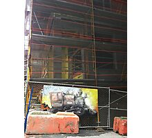 Found art at construction site Photographic Print