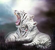 Wild Generations - White Tigers by Carol  Cavalaris
