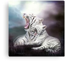 Wild Generations - White Tigers Canvas Print