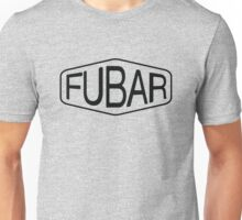 FUBAR logo - black contrast version Unisex T-Shirt