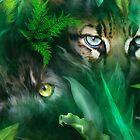 Jungle Eyes - Panther & Ocelot by Carol  Cavalaris