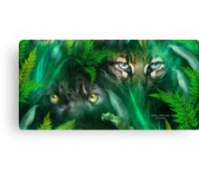 Jungle Eyes - Panther & Ocelot Canvas Print