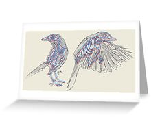 Western Scrub Jays Greeting Card