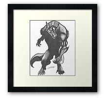 Werewolf Drawing Framed Print