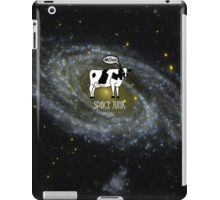 A cow become Space Junk at the Universe iPad Case/Skin