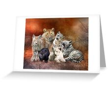 Young & Wild Greeting Card