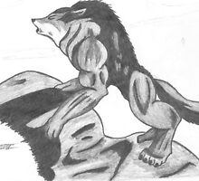 Howling Wolf Drawing by CaptainJeff