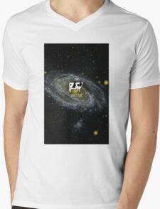 A cow become Space Junk at the Universe Mens V-Neck T-Shirt
