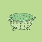 Retro Abstract Colander  by Todd Fischer