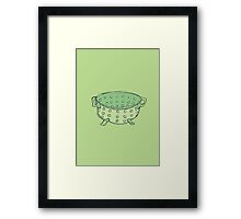 Retro Abstract Colander  Framed Print