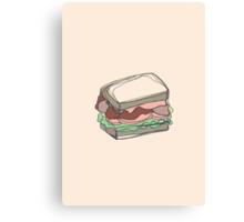 Retro Abstract Sandwich Canvas Print