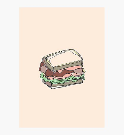 Retro Abstract Sandwich Photographic Print
