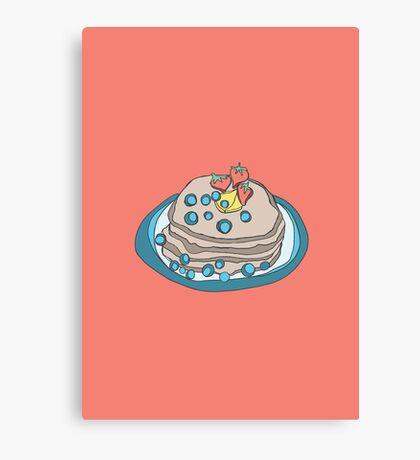 Retro Abstract Pancakes Canvas Print