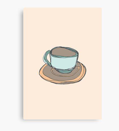 Retro Abstract Coffee Canvas Print