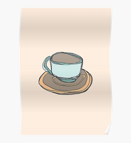 Retro Abstract Coffee Poster