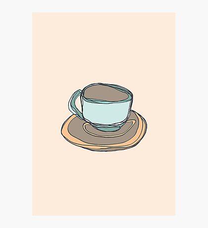 Retro Abstract Coffee Photographic Print