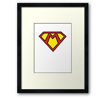 SuperMario-Man Framed Print