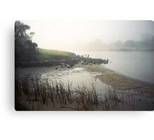 landscape in fog Canvas Print