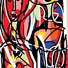 Couple in Different Colours by Anthea  Slade