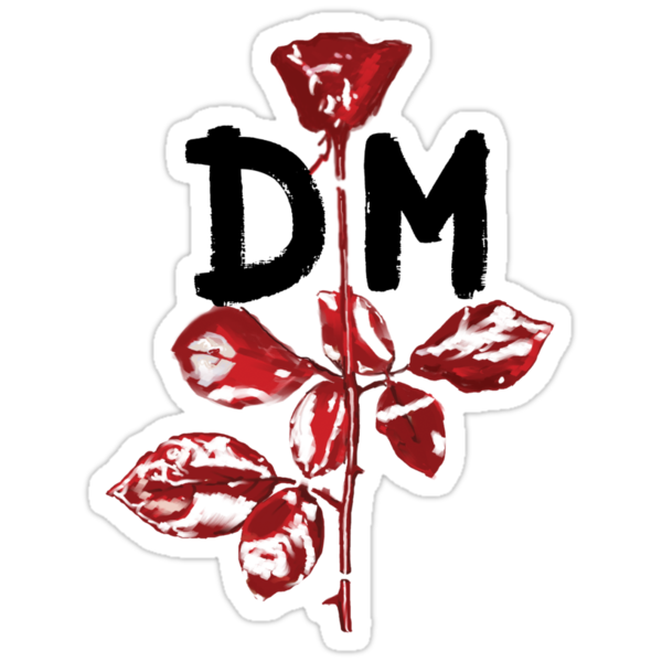 Depeche Mode : Violator DM Paint Black  by Luc Lambert