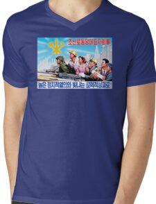 North Korean Propaganda - All Together Mens V-Neck T-Shirt