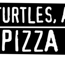 Four Turtles, a Rat and a Pizza Box Sticker