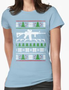 LIKE THE AR 15 CHRISTMAS Womens Fitted T-Shirt