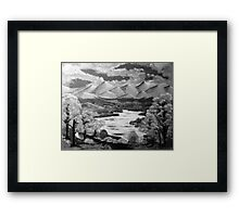 Midday Escape in B&W Framed Print