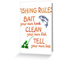FISHING - RULES Greeting Card