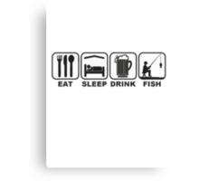 FISHING - EAT SLEEP FISH Canvas Print